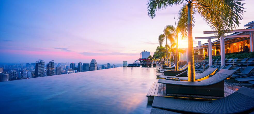 Infinity pool_Marina Bay Sands in Singapore